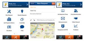Philly 311 Mobile App, Managing Director's Office of Philadelphia